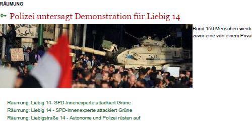 Foto: Das Foto zeigt einen ägyptischen Panzer in den Straßen von Kairo